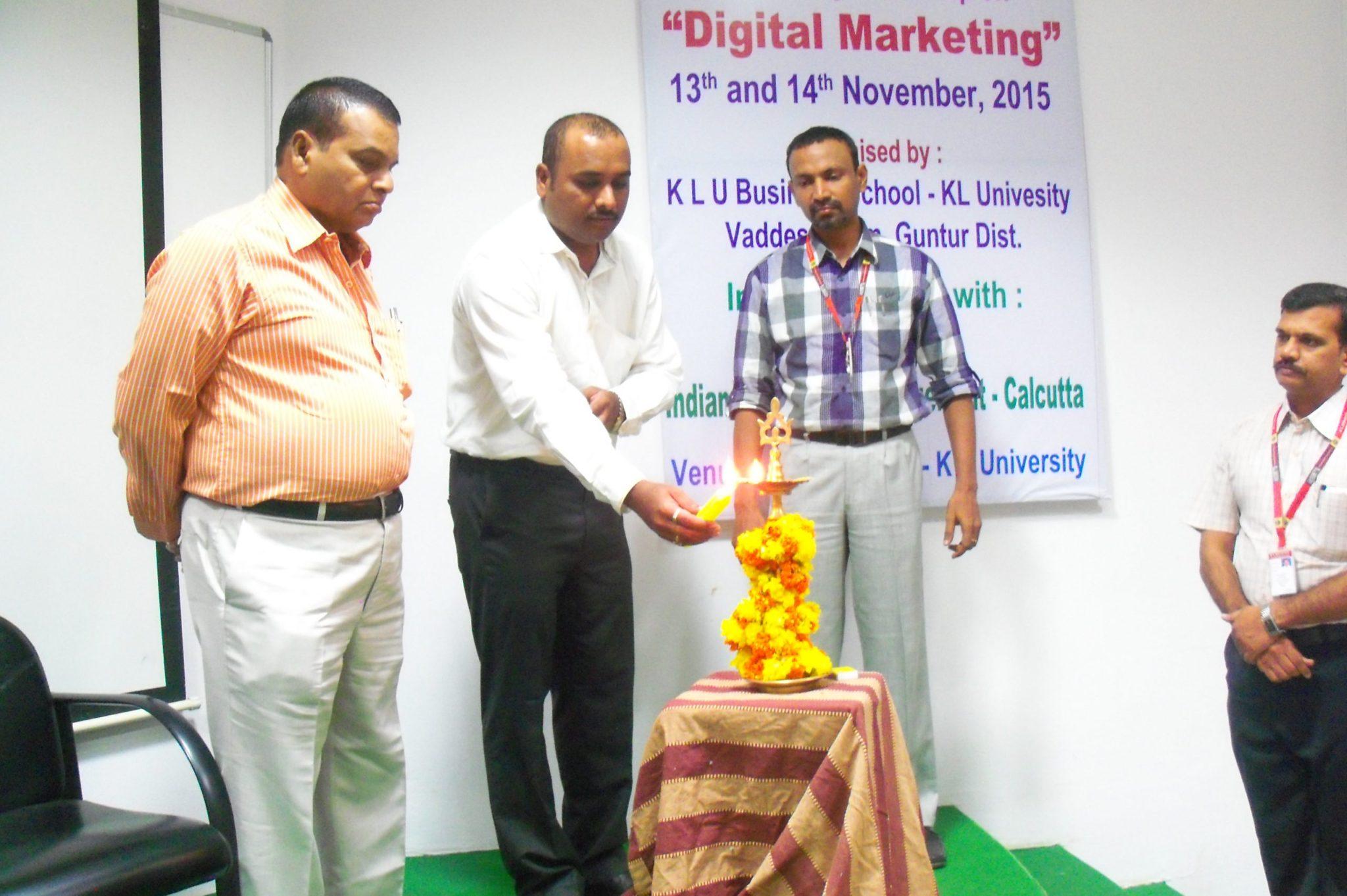Digital Marketing Workshop KL University Vijayawada