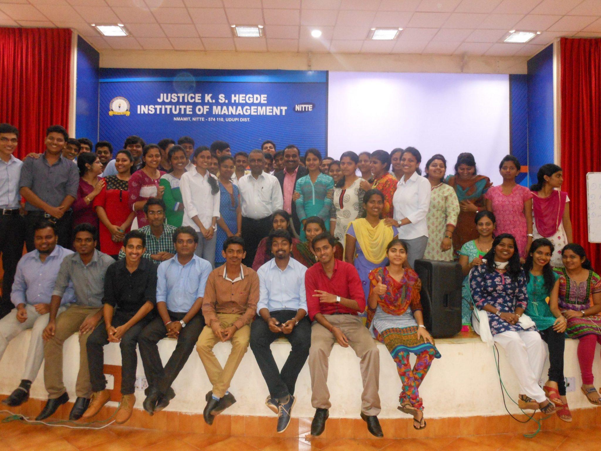 Digital marketing seminar at Justice K.S Hegde Institute of Management Udipi