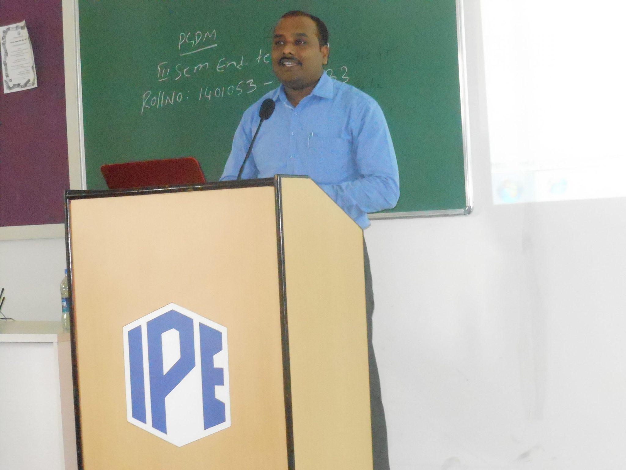 digital marketing seminar at institute of public enterprise shamirpet hyderabad
